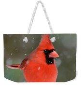 Snowflake Cardinal Weekender Tote Bag