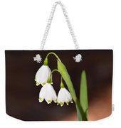 Snowflake Flowers Weekender Tote Bag