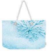 Snowflake In Snow Weekender Tote Bag