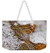 Snowflake On Rust Weekender Tote Bag