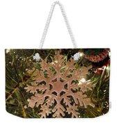 Snowflake Ornament Weekender Tote Bag