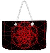 Snowflake Shape Comes From Frequency And Mass Weekender Tote Bag by Jason Padgett