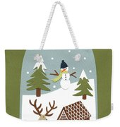 Snowglobe Weekender Tote Bag