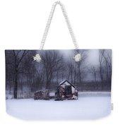 Snowing At Narcissa Road Springhouse Weekender Tote Bag