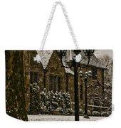 Snowing At Stokesay Castle Weekender Tote Bag