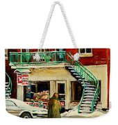 Snowing At The Five And Dime Weekender Tote Bag