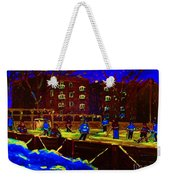 Snowing At The Rink Weekender Tote Bag
