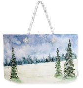 Snowing In Christmas Weekender Tote Bag