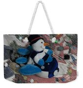 Snowman And His Speeding Plane Weekender Tote Bag