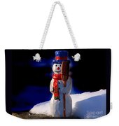 Snowman By George Wood Weekender Tote Bag