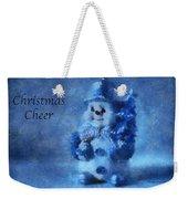 Snowman Christmas Cheer Photo Art 01 Weekender Tote Bag