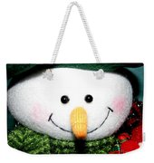 Snowman Decoration Closeup Weekender Tote Bag