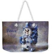 Snowman Peace Photo Art 01 Weekender Tote Bag