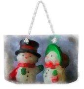 Snowman Photo Art 09 Weekender Tote Bag