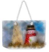 Snowman Photo Art 13 Weekender Tote Bag