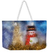 Snowman Photo Art 14 Weekender Tote Bag