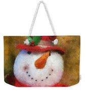 Snowman Photo Art 19 Weekender Tote Bag