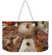 Snowman Photo Art 30 Weekender Tote Bag