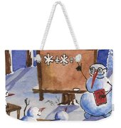 Snowman University Weekender Tote Bag