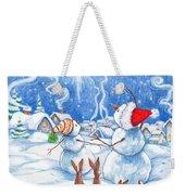 Snowmen And Christmas Star Weekender Tote Bag
