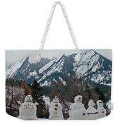 Flatiron Snowmen. Weekender Tote Bag