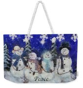 Snowmen Peace Photo Art Weekender Tote Bag