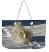 Snowplow Weekender Tote Bag by Lois Bryan