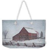 Snowstorm At The Ranch 2 Weekender Tote Bag