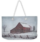 Snowstorm At The Ranch 2 Weekender Tote Bag