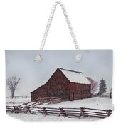 Snowstorm At The Ranch Weekender Tote Bag