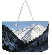 Snowwhite Mountain Top Weekender Tote Bag