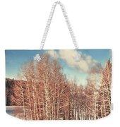 Snowy Aspens  Weekender Tote Bag