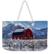 Snowy Barn In The Mountains - Utah Weekender Tote Bag