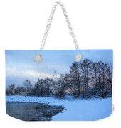 Snowy Beach Impressions Weekender Tote Bag