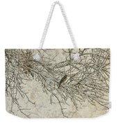 Snowy Bird Weekender Tote Bag