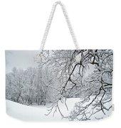 Snowy Branches Weekender Tote Bag