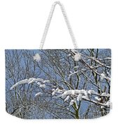 Snowy Branches With Blue Sky Weekender Tote Bag