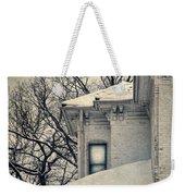 Snowy Brick House Weekender Tote Bag