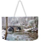 Snowy Bridge Along The Wissahickon Weekender Tote Bag