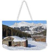 Snowy Cabins Weekender Tote Bag