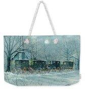 Snowy Carriages Weekender Tote Bag
