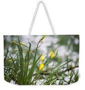 Snowy Daffodils Weekender Tote Bag