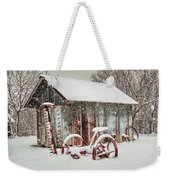 Snowy Day Weekender Tote Bag