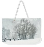 Snowy Day In The Tetons Weekender Tote Bag