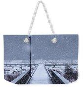 Snowy Day On The Boardwalk Weekender Tote Bag