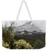 Snowy Desert Mountain Weekender Tote Bag