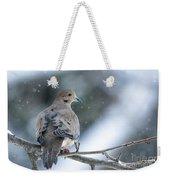 Snowy Dove Weekender Tote Bag