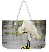 Snowy Egret In Swamp Weekender Tote Bag
