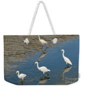 Snowy Egret Lunch Break Weekender Tote Bag