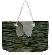 Snowy Egret On Estuary Weekender Tote Bag